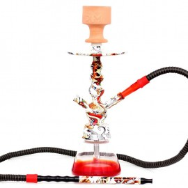 Ναργιλές/Shisha Dum Gringo Red/Purple 44cm